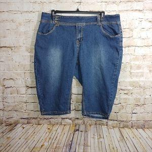 💜{Ashley Stewart} long shorts/crops